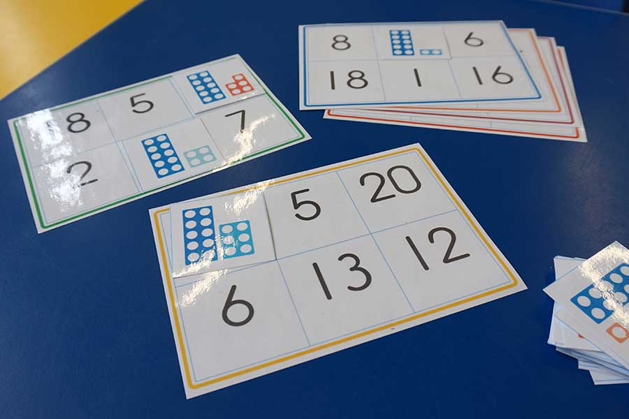 Numicon B on Number Recognition Bingo